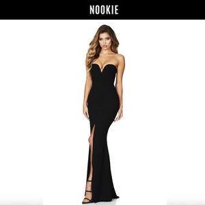 NEW Nookie Honey Gown Sleeveless Black XS